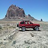 Exploring Shiprock monument, NM by xstevej