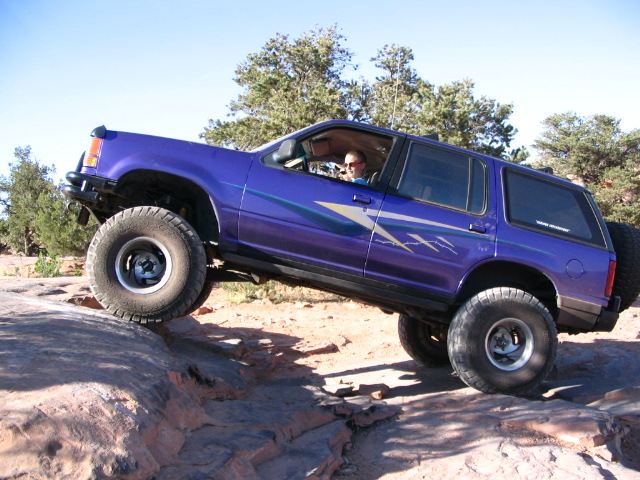 Patrick first time driving in Moab