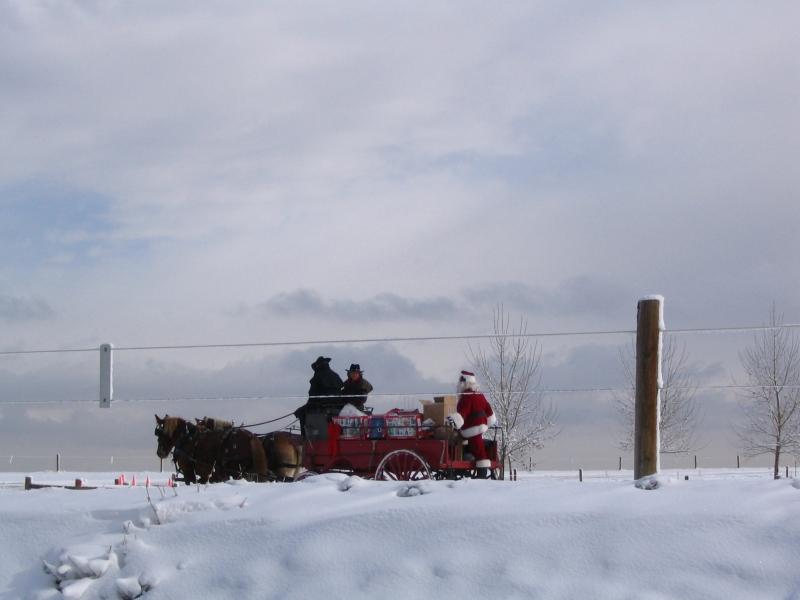 Santa leading the way