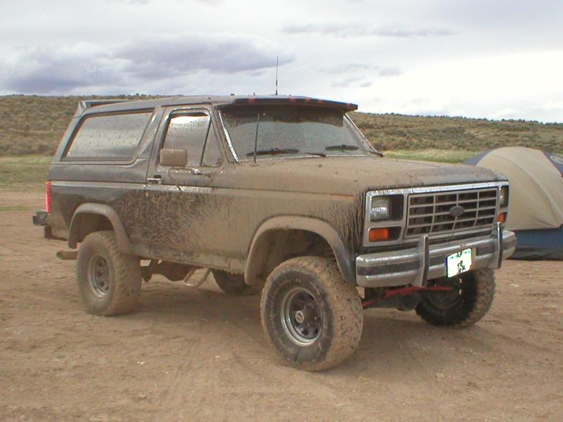 85 bronco mud